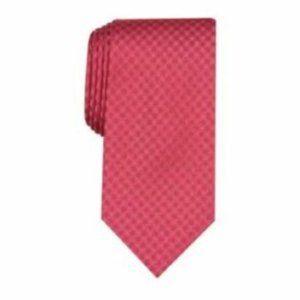 Perry Ellis Red Beardsley Check Silk Tie